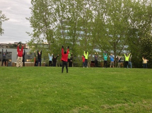 Our group, Embrace The Moon Taijiquan and Qigong on World Tai Chi & Qigong Day, April 27th. Myrtle Edwards Park.